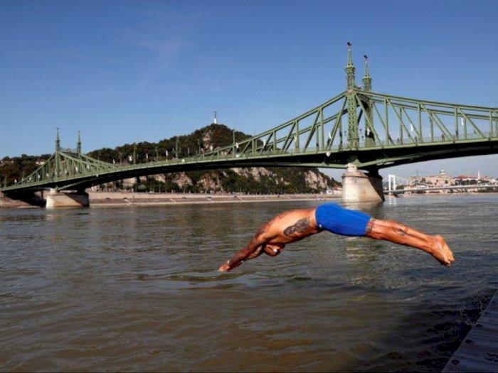 Budapest Urban Games, 700 Perenang Terjun Bebas ke Sungai Terpanjang di Uni Eropa