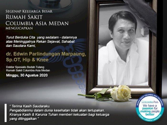 Dua Dokter Top di Medan Meninggal dalam Sehari, RIP dr Daud Ginting dan dr Edwin Marpaung