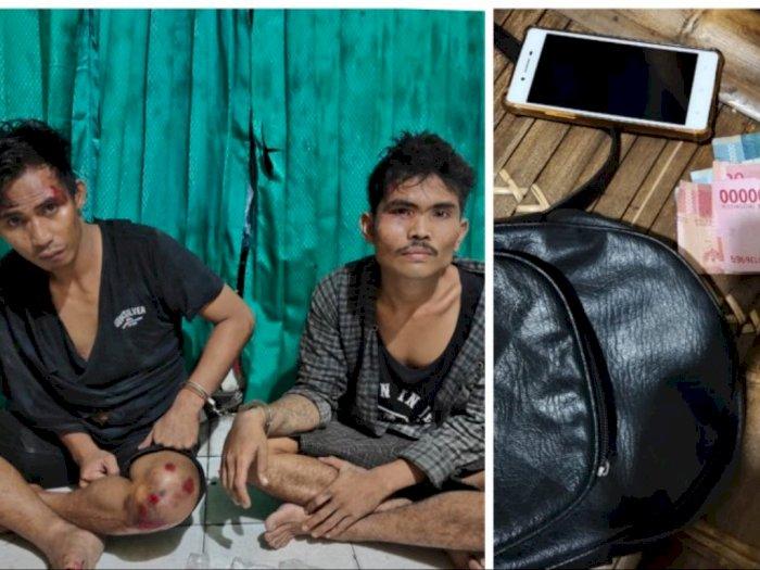 Terjatuh saat Kabur, Dua Pelaku Penjambretan di Stabat Berhasil Diringkus Warga