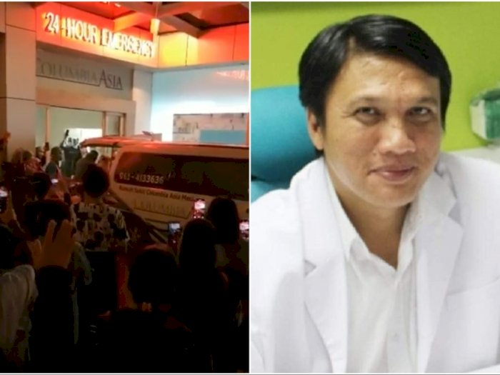 Isak Tangis Iringi Kepergian dr Edwin Marpaung, Dokter yang Meninggal karena Covid-19