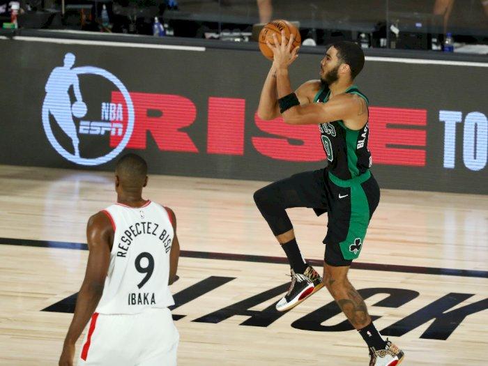 FOTO: Celtics Kalahkan Raptors 112-94 di Semifinal Konferensi 1
