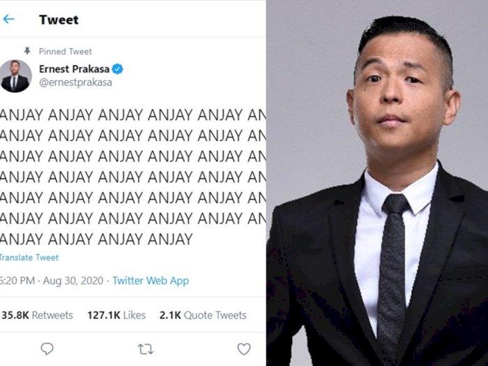 Dilarang Sebut 'Anjay', Ernest Prakasa Malah Tulis Cuitan 'Anjay' 46 Kali
