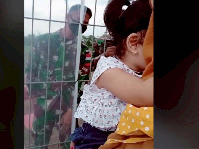 Viral Bocah Perempuan Takut Bertemu dengan Ayahnya yang Anggota TNI, Bikin Netizen Sedih