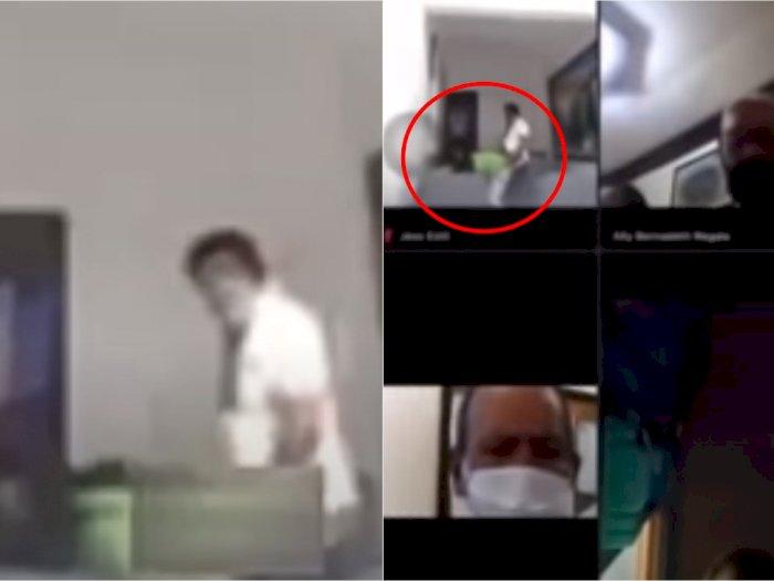Lupa Matikan Kamera, Aksi Mesum Kades dan Bendahara Jadi Tontonan Peserta Rapat Online
