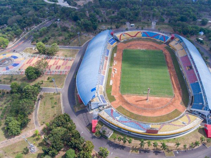 FOTO: Renovasi Stadion Gelora Sriwijaya Jakabaring Palembang