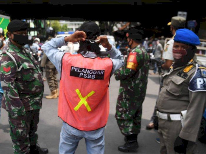 Denda PSBB di Jakarta Capai Rp4 Miliar, Setengahnya dari Pelanggaran Masker