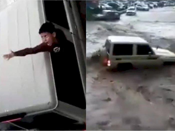 Ayah Nekat Terobos Banjir, Istri dan Anak Tewas Terbawa Arus, Videonya Mencekam