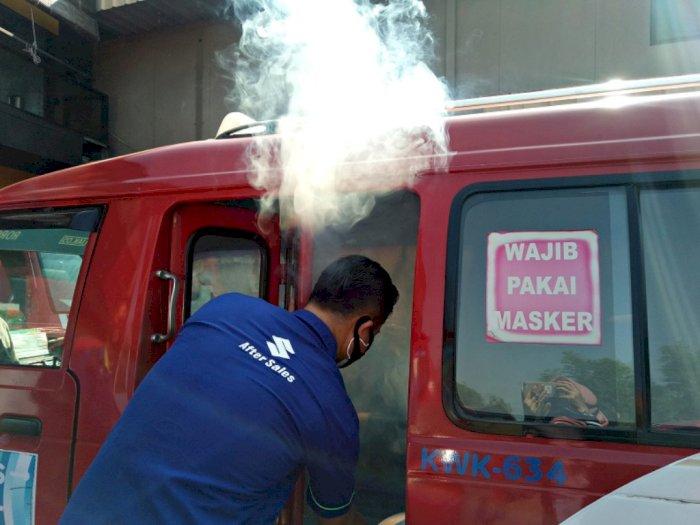 Jaga Transportasi Aman, Suzuki Semprot Disinfektan ke 1.001 Angkot