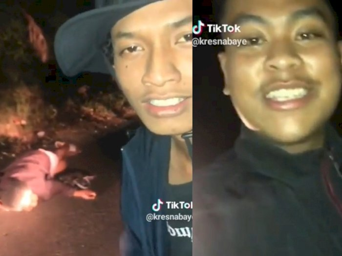 Videokan Nenek yang Tergeletak di Dekat Kuburan, Para Remaja Ini Diduga yang Memukuli