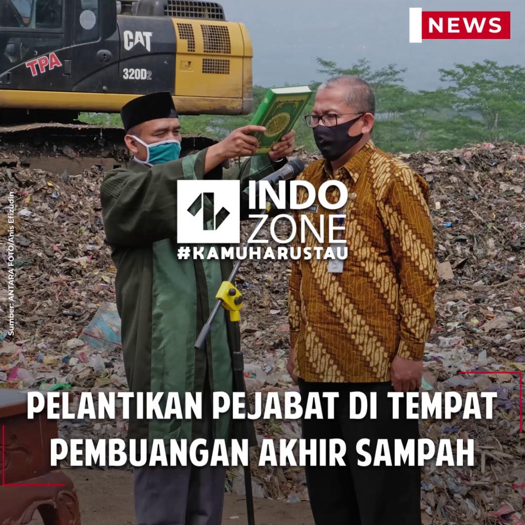 Pelantikan Pejabat di Tempat Pembuangan Akhir Sampah