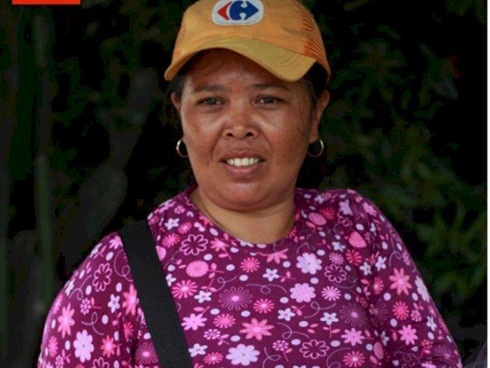 Diperbudak Suami, Seorang Ibu Rela Jadi Kuli Bangunan Demi Anak Tetap Sekolah