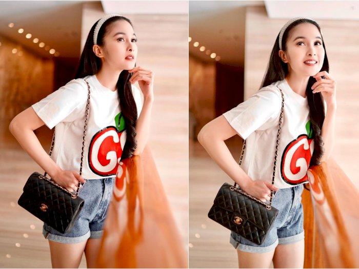 Sandra Dewi Pakai Baju Kaus Putih Seharga Rp10 Juta Lebih, Netizen: Bahannya dari Apa Sih?