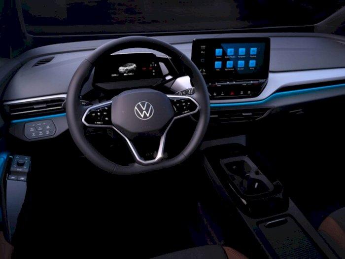 Mobil Listrik Volkswagen ID4 2022 Hadirkan Interior Simpel Mirip Tesla