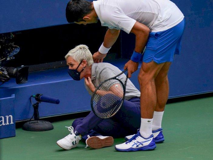Detik-detik Novak Djokovic Pukul Bola Pada Hakim Garis Membuatnya Didepak dari US Open