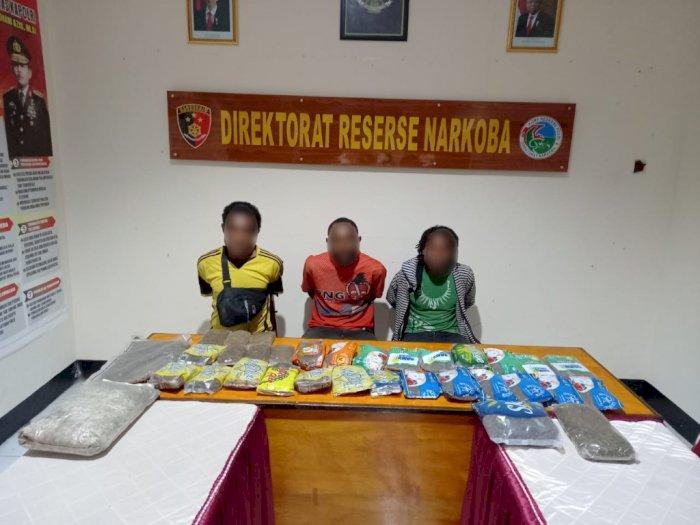 Kerap Edarkan Ganja di Jayapura, 3 Warga Papua New Guinea Ditangkap Polisi