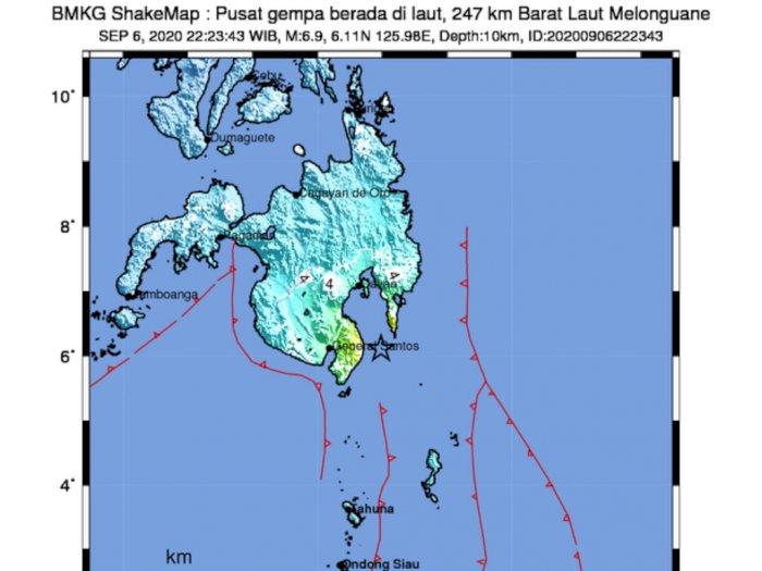 Gempa M 6,9 Guncang Sulut, BMKG: Akibat Subduksi Lempeng Laut Filipina