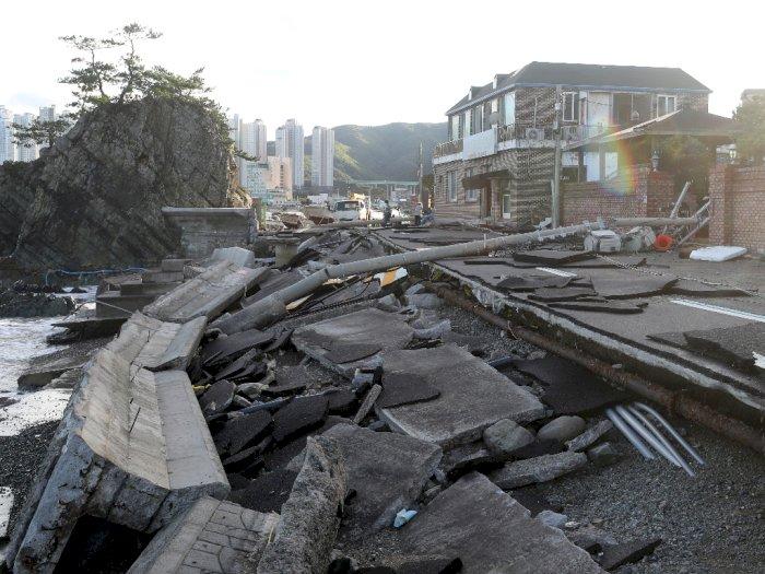 FOTO: Kondisi Korea Selatan yang Diterjang Topan Haishen