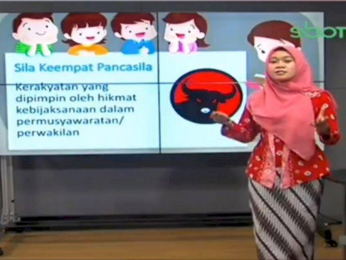 Viral Sila Keempat Pancasila Bergambar Lambang PDIP Tayang di Program TV
