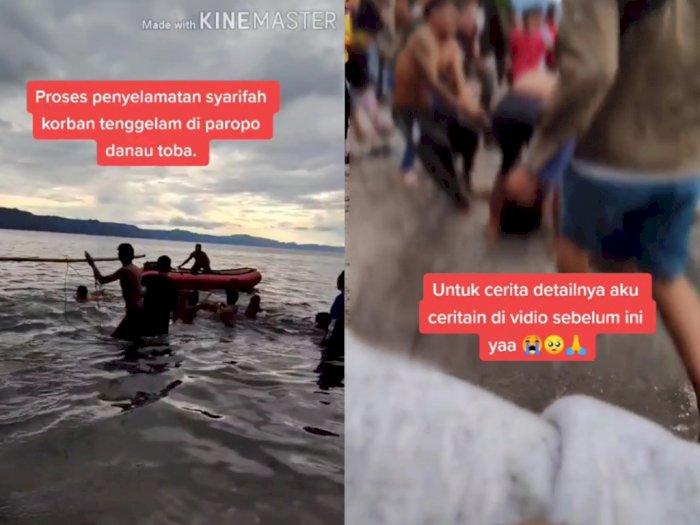 Viral Video Momen Evakuasi Korban Tenggelam di Paropo Danau Toba