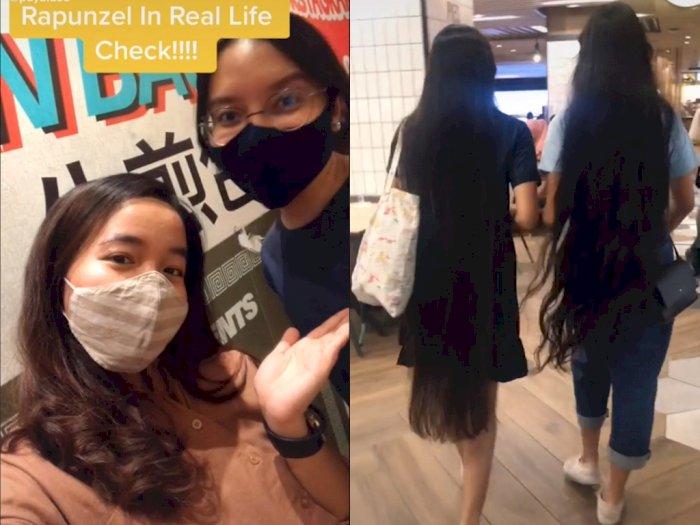Temannya Punya Rambut Panjang Bak Rapunzel, Gak Pernah Dipotong Sejak Lahir