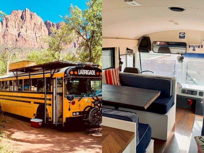 Kreatif, Bus Sekolah Ini Disulap Menjadi Rumah Berjalan yang Nyaman!