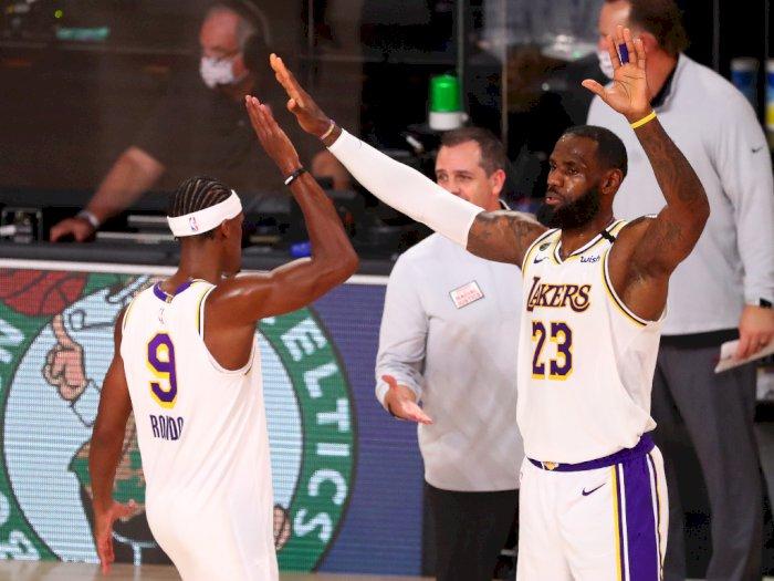 FOTO: Lebron James Memimpin Lakers atas Rockets 112-102