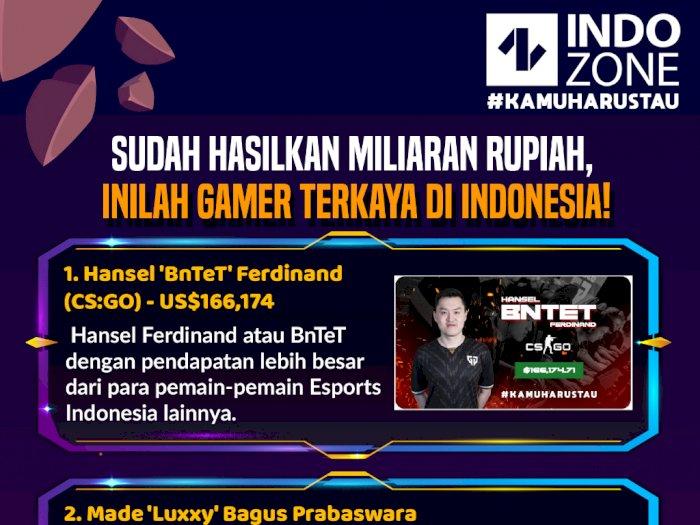 Sudah Hasilkan Miliaran Rupiah, Inilah 5 Gamer Terkaya di Indonesia!