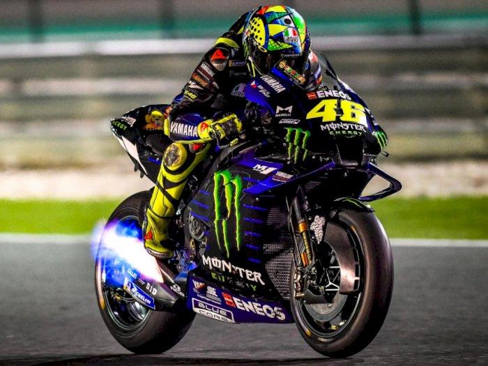 MotoGP San Marino, Rossi Pakai Helm Baru Minim Warna