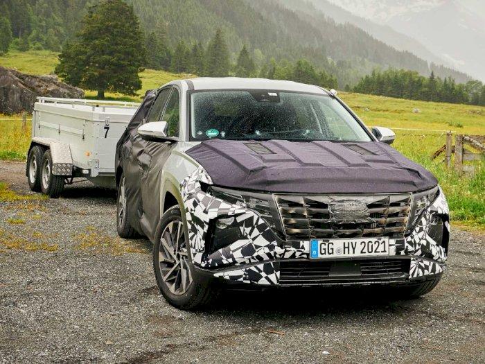 Mobil Hyundai Tucson 2021 Terlihat Sebelum Diumumkan 14 September Nanti