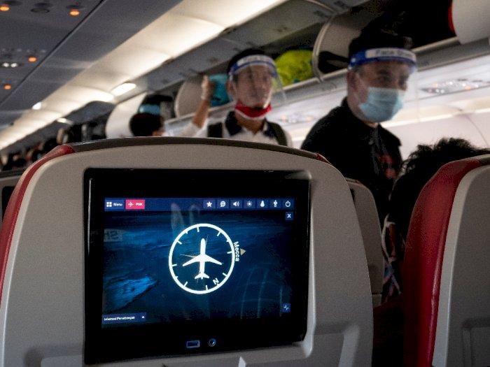 FOTO: Aturan Duduk Penumpang Pesawat Udara