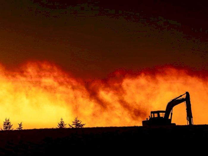 FOTO: Ratusan Rumah Hangus Terbakar di Oregon