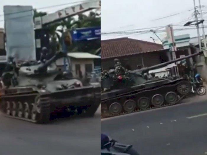 Kronologi Tank Tabrak Motor dan Gerobak di Bandung: Sedang Latihan Tempur