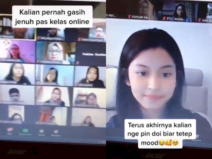 Cowok Ini Nge-Pin Gebetan Agar Tak Jenuh Saat Kelas Daring, Netizen: Auto Betah