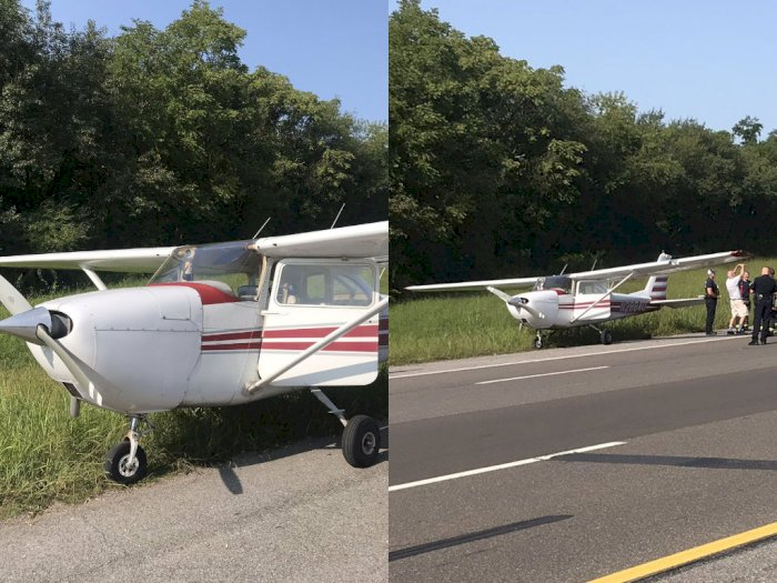 Pesawat Cessna 172 Lepas Landas dari Jalan Tol Usai Mendarat Darurat!