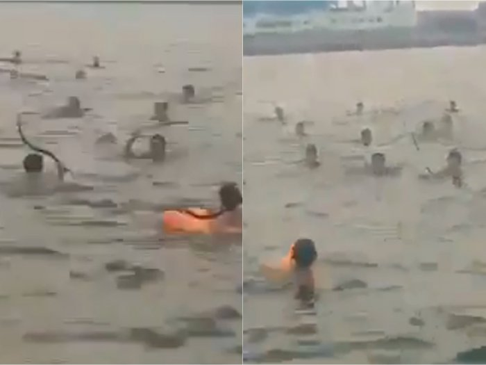 Bosan Tawuran di Jalanan, Remaja di Kalibaru Tawuran di Laut, Bawa Clurit sambil Berenang