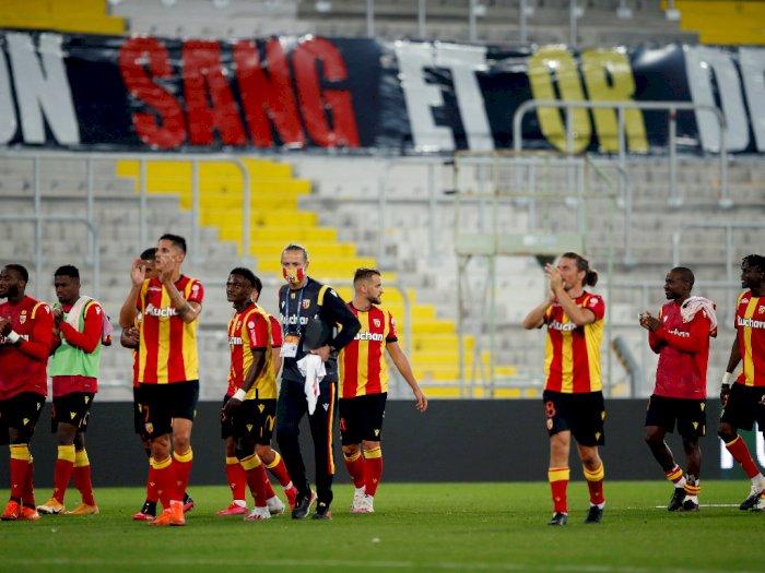 FOTO: Liga Prancis: Tim Promosi Lens Parisiens Mempermalukan PSG 1-0