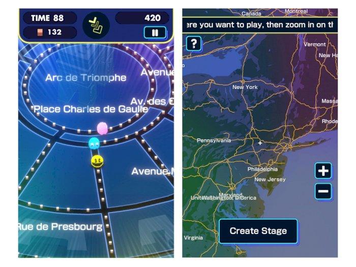 Game Mobile Pac-Man Geo Bisa Ubah Dunia Nyata Menjadi Level Pac-Man Unik
