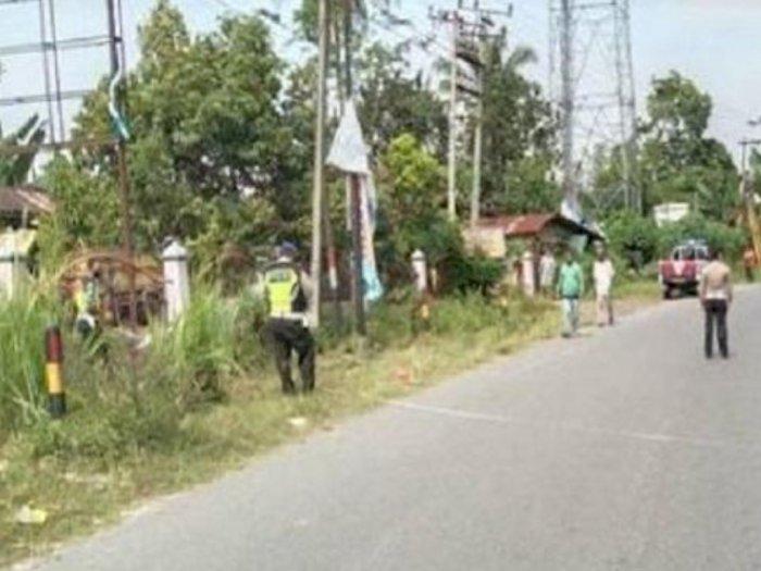Hilang Kendali, Pengendara Sepeda Motor Tewas Hantam Tiang Telepon di Simalungun