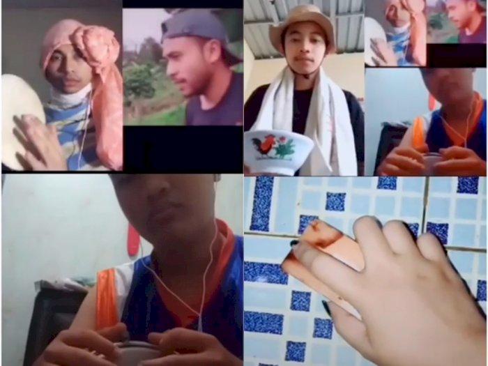Duet Nyanyi Lagu Bintang Kecil dengan Musik dari Alat Seadanya, Netizen: Terlalu Kreatif