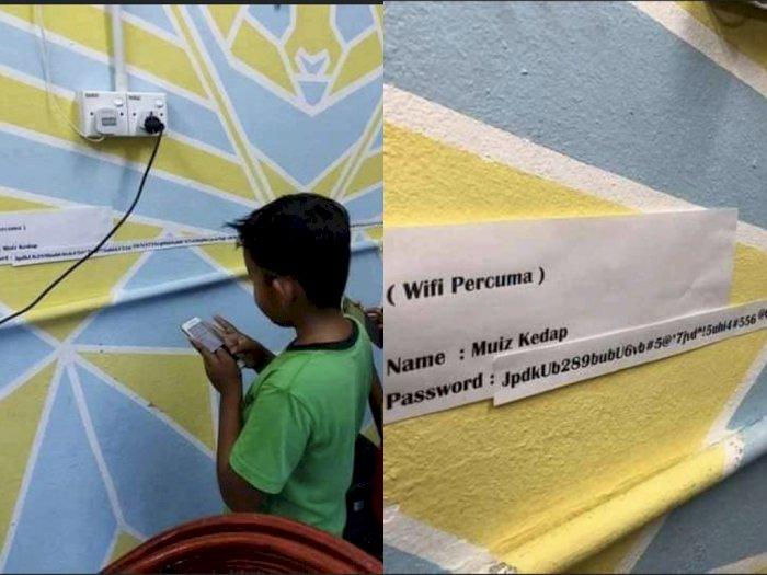 Demi WiFi Gratis, Bocah Ini Rela Antre Meski Passwordnya Panjangnya Bukan Main