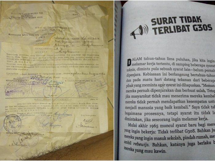 Surat Bersih Diri dari G30S/PKI Viral, Dipakai untuk Melamar TNI, PNS, dan Daftar Sekolah