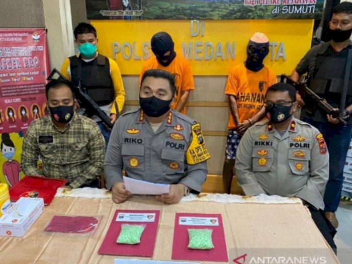 Dua Pengedar Ekstasi Diamankan di Sebuah Wisma di Medan