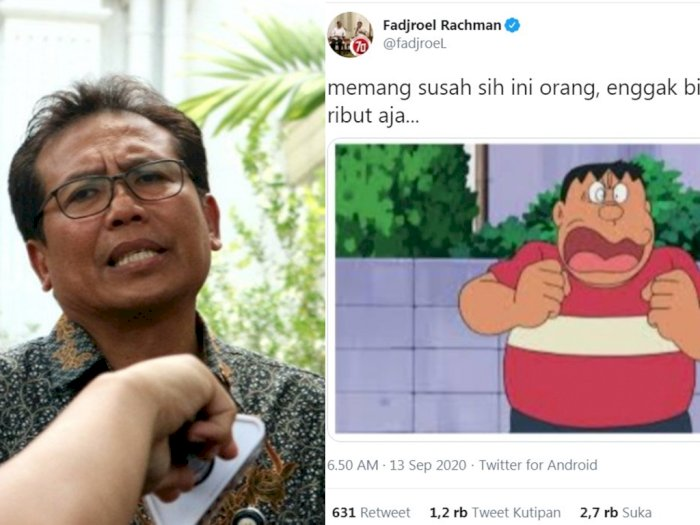 Dianggap Tak Patut, Cuitan Juru Bicara Jokowi Fadjroel Rachman Dihujat: Mewakili Presiden?