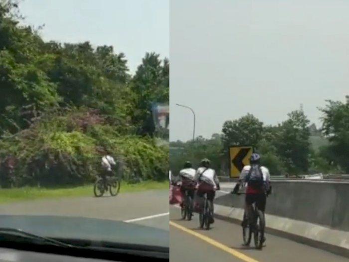 Kata Polisi Soal Rombongan Pesepeda Masuk Tol Jagorawi yang Viral