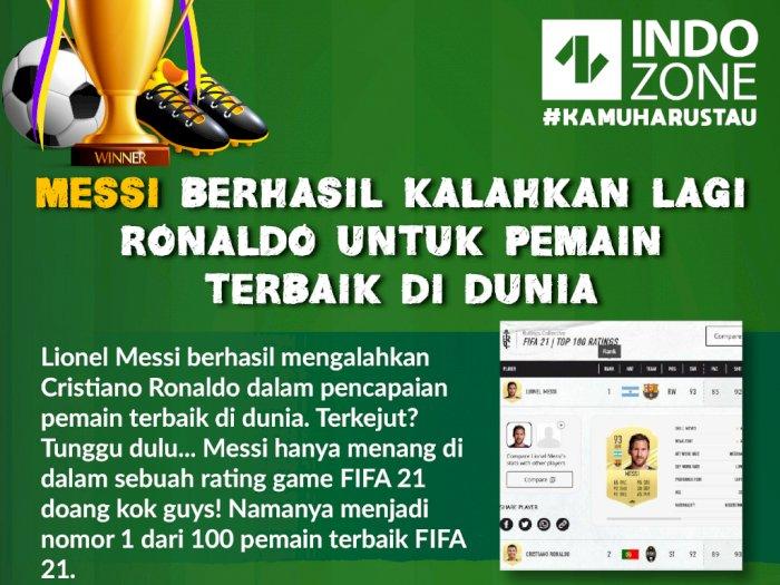 Messi Kalahkan Lagi Ronaldo Untuk Pencapaian Pemain Terbaik di Dunia