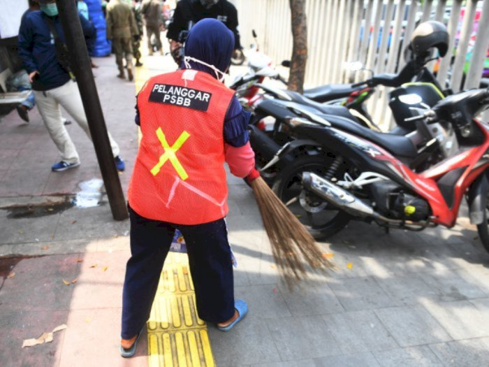 3.022 Orang Tak Pakai Masker di Hari Pertama PSBB Jakarta