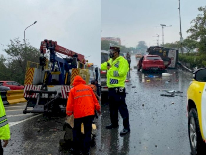 Kecelakaan Beruntun di Jagorawi Kemarin, Korbannya 1 Anggota TNI