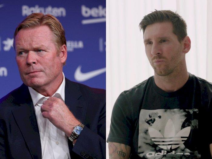Tegaskan Hubungan dengan Messi Baik-Baik Saja, Koeman: Itu Konflik Antara Messi dan Klub