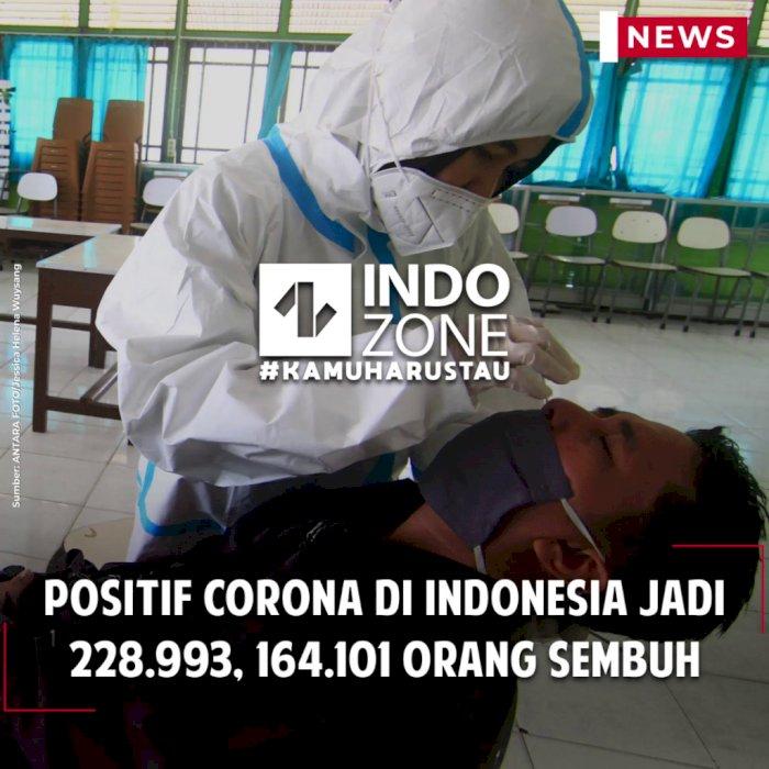 Positif Corona di Indonesia Jadi 228.993, 164.101 Orang Sembuh