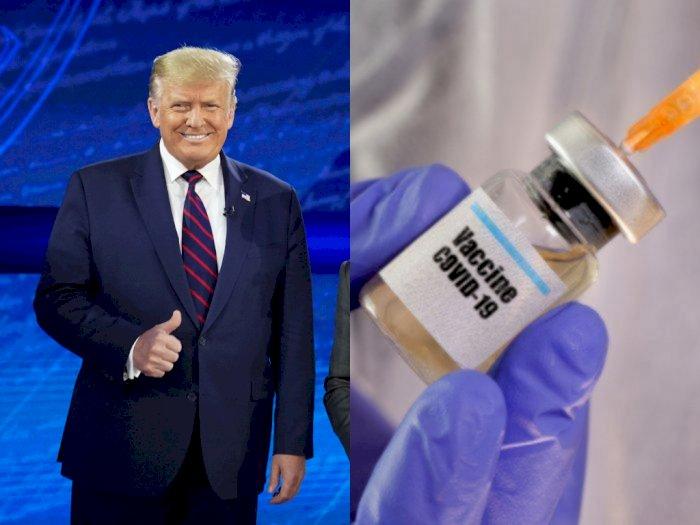 Donald Trump Sebut Vaksin COVID-19 akan Ada Beberapa Minggu Lagi